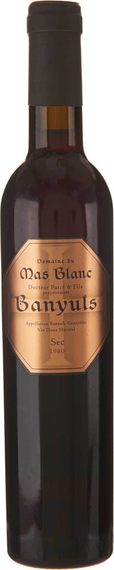 Domaine du Mas Blanc Banyuls Sec 1980