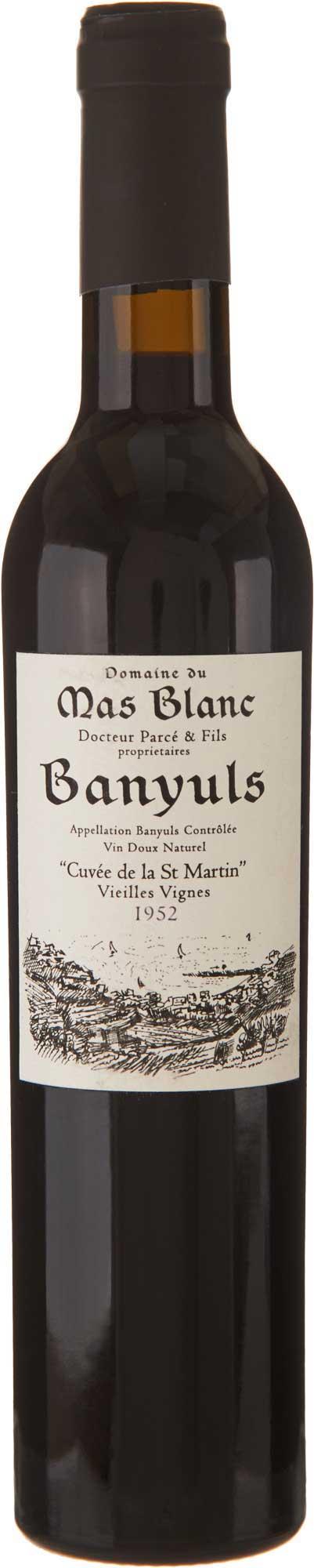 Domaine du Mas Blanc Banyuls 'Cuvée St. Martin' 1952