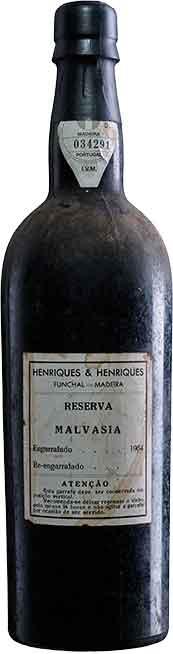H&H PRE-1850 Malvasia bottled in 1964