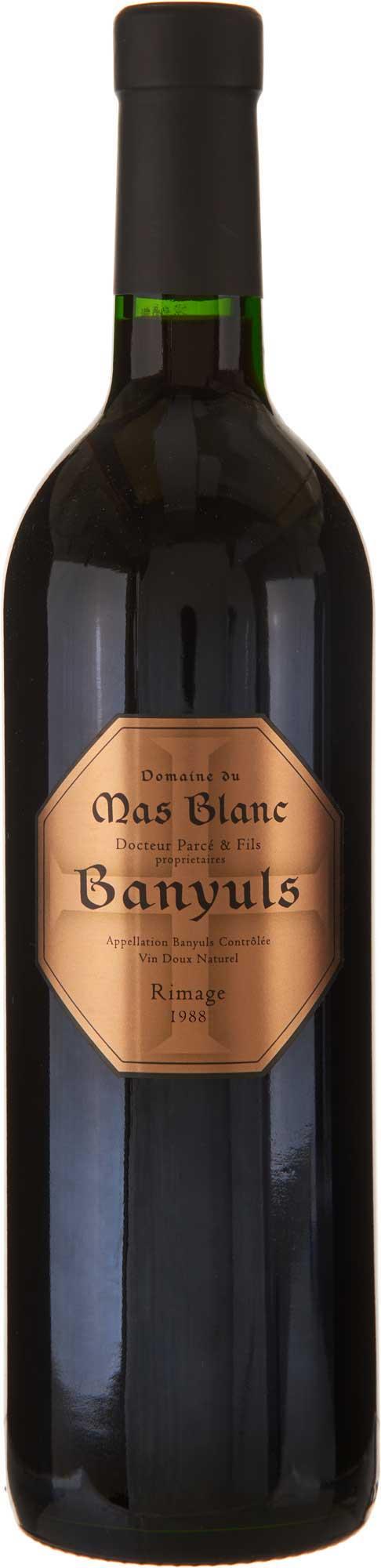 Domaine du Mas Blanc Banyuls Rimage 1988