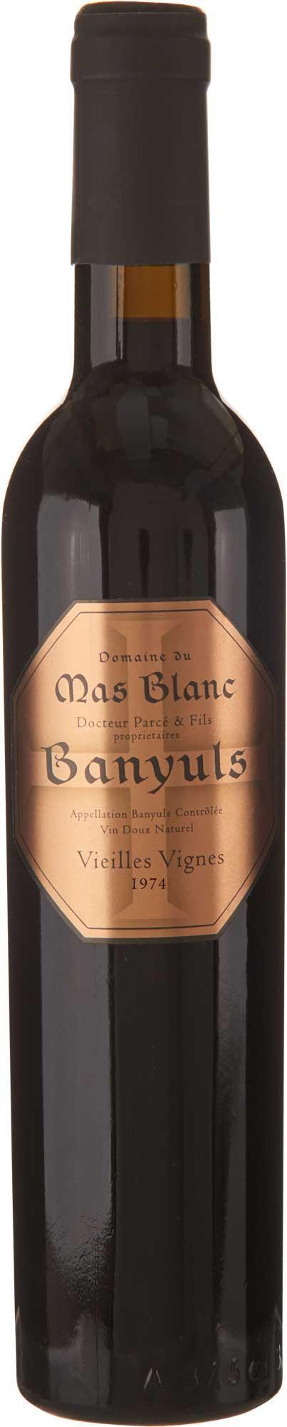 """Domaine du Mas Blanc Banyuls """"Vieilles Vignes"""" 1974"""